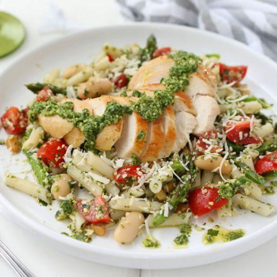 Easy Gluten-Free Chicken Pesto Pasta